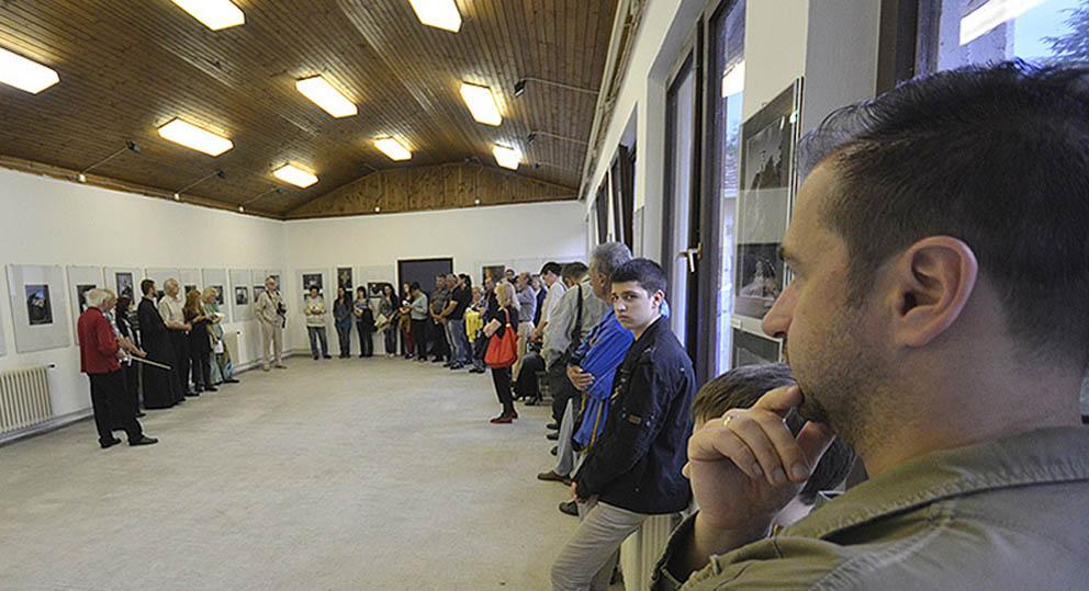 Za vreme otvaranja izložbe