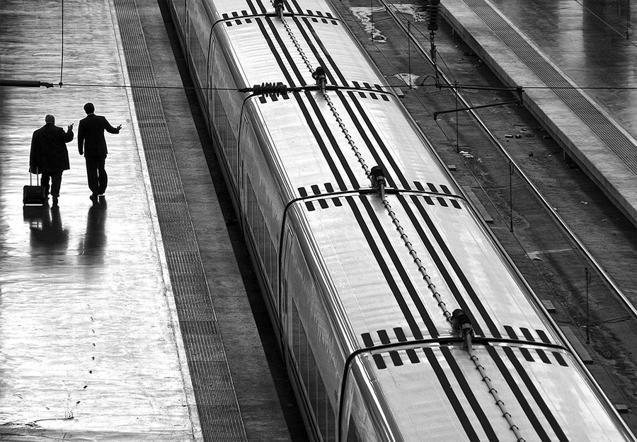 © UPI Mention, Open Monochrome PRINT, Marcel van Balken, Netherlands, F2Railway station